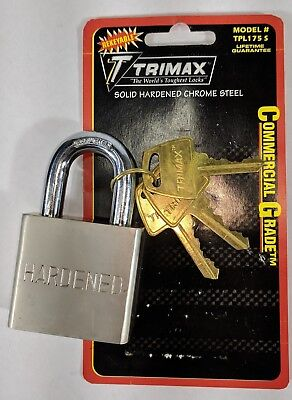Trimax TPL175S Steel Padlock - Rekeyable 6 pin - American keyway
