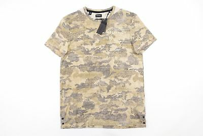 Buffalo David Bitton Faded Brown Camo Military Small Tshirt Mens Nwt New
