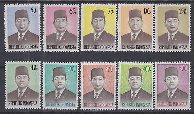 295) INDONESIA 1974 / 1976  PRESIDENT SUHARTO  2 x MINT NEVER HINGED SETS