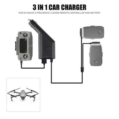 3 In 1 Battery Car Charger for DJI Mavic 2 Pro / Zoom Remote Controller and A3T4