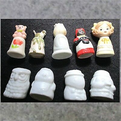 Lot 9 THIMBLES all people/figures ᵇ W2