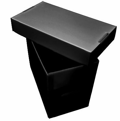 5 Premium Plastic Magazine Storage Boxes - Black - Acid Free / Archival Safe