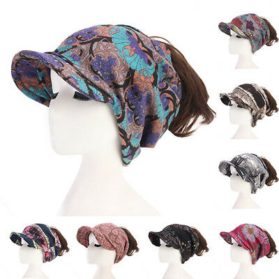 Hole Hat Women Hat Autumn Imitated Cashmere Messy Ponytail Beanie Floral Winter