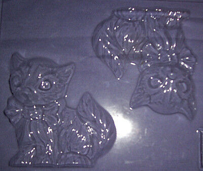 Two Large Cat With A Bow Shapes Chocolate Mould Or Plaster Mould