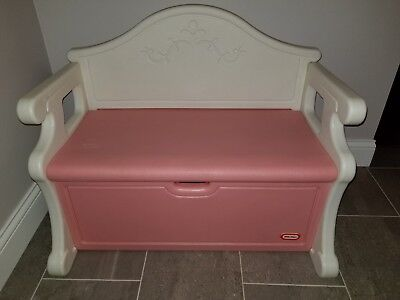 Awesome Little Tikes Child Size Pink White Victorian Country Bench Creativecarmelina Interior Chair Design Creativecarmelinacom