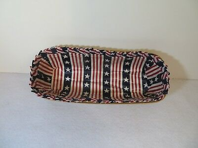 Longaberger LINER ONLY in Stars and Stripes for Cracker, Muffin,Bed + Basket