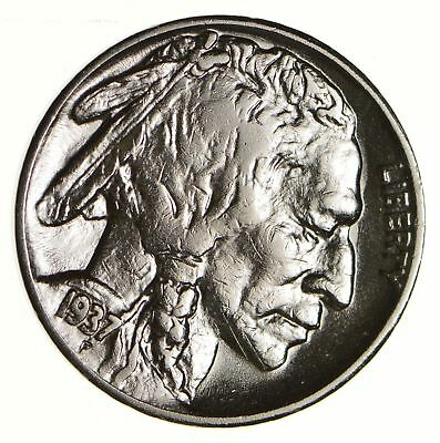 FULL HORN - High Grade - TOUGH - 1937-S Buffalo Nickel - Sharp Coin! *597