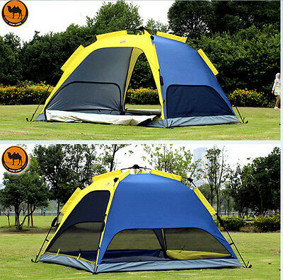 Camping Hiking Rainfly Automatic Waterproof Double Layer Instant Tent 4 Person