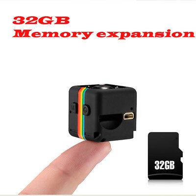 SQ11 Mini Camera Full HD 1080P Car DVR Camcorder Night Vision Mini Size US Black