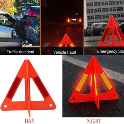 Car Reflective Traffic Warning Sign Triangle Foldable Tripod Emergency SY #