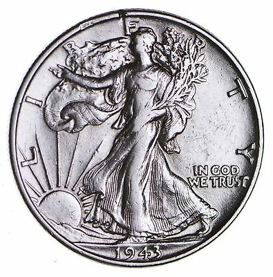 Strong Feather Details - 1943 Walking Liberty Half Dollars - Huge Value *255