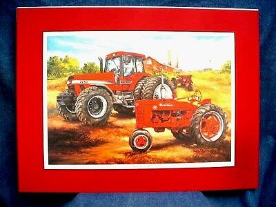 Farmall M & 7250 Tractor Art Print - Standards In Excellence - Ltd Ed - Matted