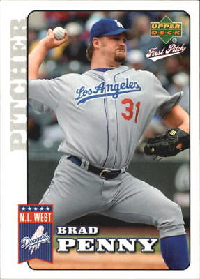 2006 Upper Deck First Pitch Los Angeles Dodgers Baseball Card #96 Brad Penny
