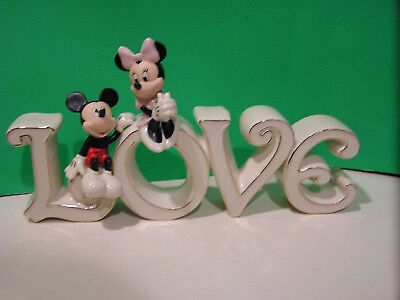 LENOX Disney MICKEY and MINNIE TRUE LOVE sculpture NEW in BOX with COA mouse