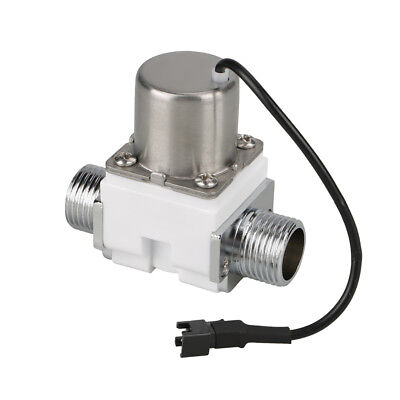 """1/2"""" Electric Solenoid Valve Magnetic DC4.5V Water Inlet Flow Pulse Valve White"""