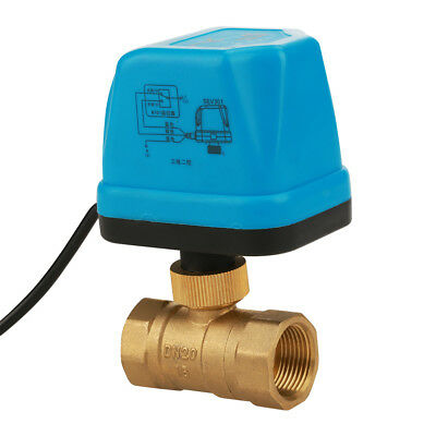 """Motorized Ball Valve 2 Way BSP DN20 G3/4"""" 220V Electric With LED Light"""