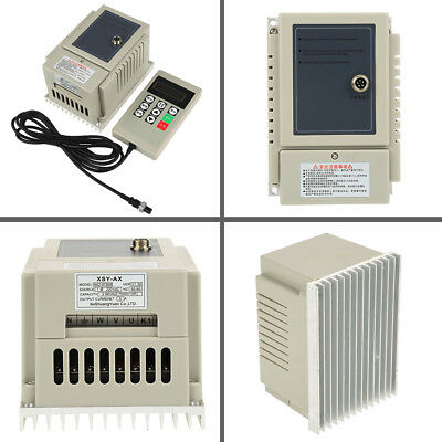 220V 0.75KW 4A Single-Phase VFD Variable Speed Motor Drive Frequency Inverter ly