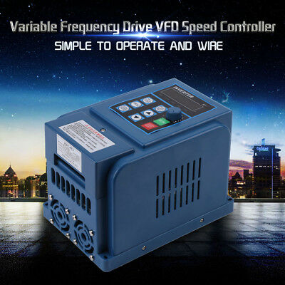 AC 380V 1.5kW 4A Three Phase Variable Frequency Drive Inverter CNC Motor VFD UK