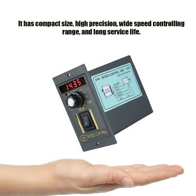 AC 220V 15-400W Digital Adjustable Stepless Motor Speed Controller 0-1450rpm UK