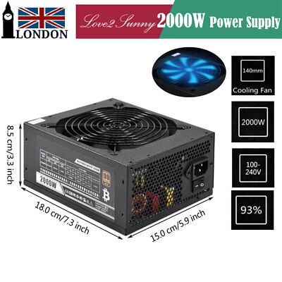 High Quality Mining Power Supply 2000W PSU For Bitcoin Litecoin Mining Machine