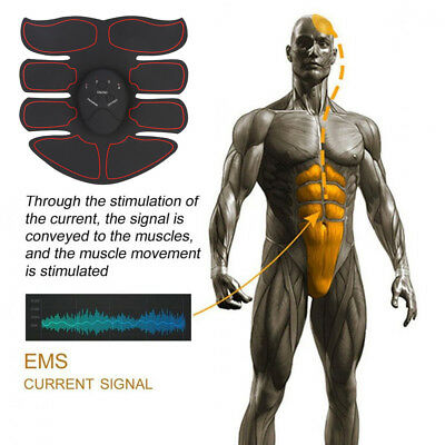 Smart Rechargeable Abs Stimulator Fitness Gear Muscle Abdominal toning Trainer^