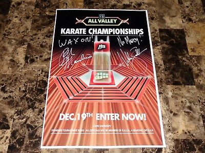 The Karate Kid Signed Tournament Event Movie Poster Ralph Macchio William Zapka