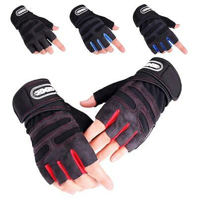 Men Weight Lifting Gym Gloves Training Fitness Wrist Wrap Workout Exercise Sport