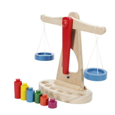 Early Educational Baby Wooden Scale Balance Montessori Toys Children Game