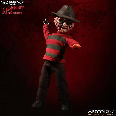 Nightmare on Elm Street Puppe mit Sound Freddy Krueger 25 cm von Mezco