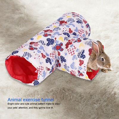 3 Way Animal Tunnel Rabbit Ferret Hamster Guinea Pig Exercise Tube Small Pet Toy