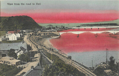 Norway View from Road to Hell Vintage Postcard 9.11