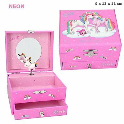 Depesche YLVI & MINIMOOMIS MUSIC BOX Unicorn NAYA Jewellery Box PINK