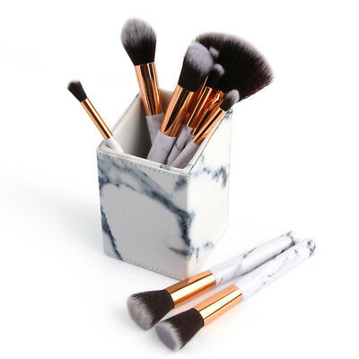 Polyurethane Leather Makeup Brushes Holder Display Organizer Storage Box Cup