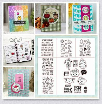 Adorable Transparent Silicone Clear Rubber Stamp Cling Diary DIY Scrapbooking