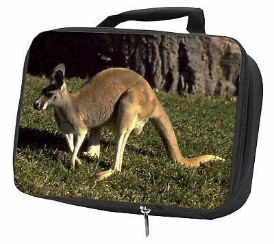 Kangaroo Black Insulated School Lunch Box Bag, AK-2LBB