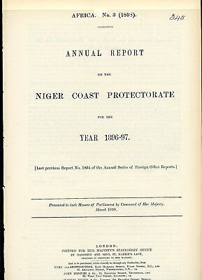 Niger Coast Protectorate  1896/7 Report Document, 15 Pages   (N919)