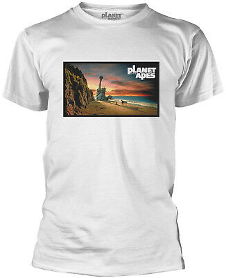 PLANET OF THE APES Statue Of Liberty WHITE T-SHIRT OFFICIAL MERCHANDISE