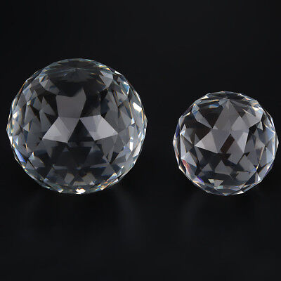 60/80mm Clear Cut Sphere Crystal Prisms Hardware Fittings Glass Gazing Ball