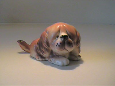Vintage 1960's Ceramic Pekingese Puppy Dog