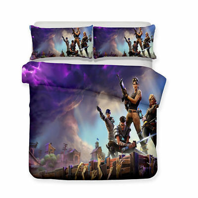 3D Fortnite Game Bedding Sets 2PCS/3PCS Duvet Cover & Pillowcase Fr Seller