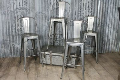 High Back Tolix Stools Bright Metal Bar Stools With Back Three Colours