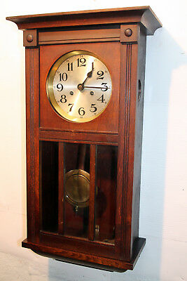 Antique Wall Clock Chime Clock  Regulator 1920th *KIENZLE*