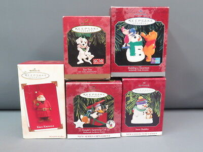 Lot of 5 Different Hallmark Keepsake Ornaments