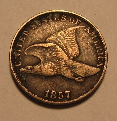 1857 Flying Eagle Cent Penny - Very to Extra Fine Condition - 20FR