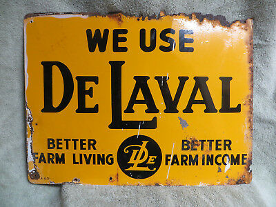 "VINTAGE 12""x16"" WE USE DELAVAL METAL SIGN"