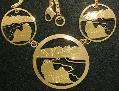 Lhasa Apso Jewelry Three Medallion Necklace
