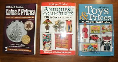 LOT of 3 books: Antique Trader Guide / North Am. Coins & Prices / Toys & Prices