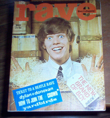 Rave Magazine 1965 The Beatles Pattie Boyd Yardbirds Moody Blues The Kinks MOD