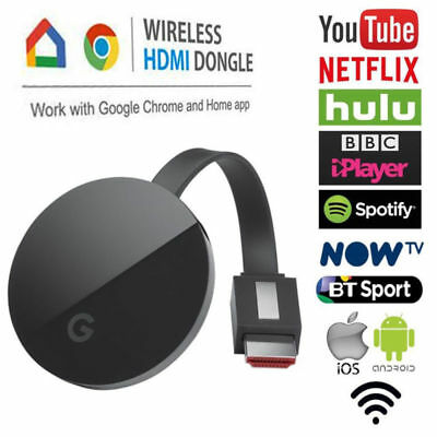 Chromecast TV Display Récepteur Mirascreen HDMI pour Android IOS Netflix YouTube