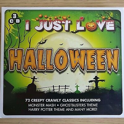 3CD NEW - I JUST LOVE HALLOWEEN - CREEPY CRAWLY CLASSICS - Pop Music 3x CD Album